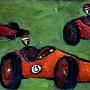 Wyścig, A race, 30 x 13 cm